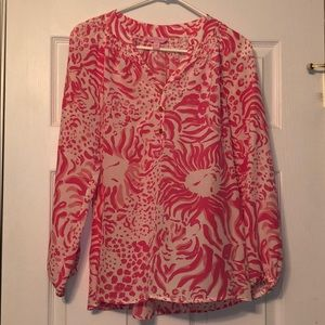 NWOT Lilly Pulitzer Blouse Women's Size Medium